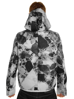 Jil Sander Marble Hooded Sports Jacket as worn by Kanye West