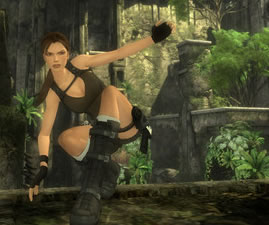 Lara Croft in Tomb Raider Underworld